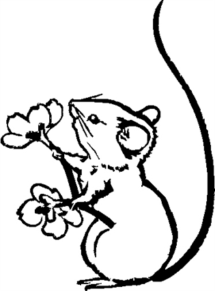 mouse-with-flowers