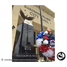 AICA 2015 2nd place winner in the Public Memorials category, designed by Reid Miller. This public memorial was the Eagle Scout project of Bryan Ritchey, dedicated to Honoring Heroes. It features an original bronze eagle sculpted by artist Kathy Erdmann.